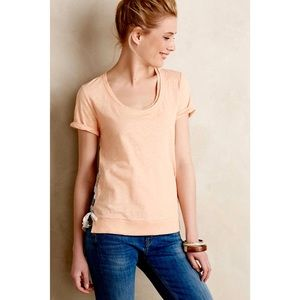 Anthro Contrast Cinched Tee